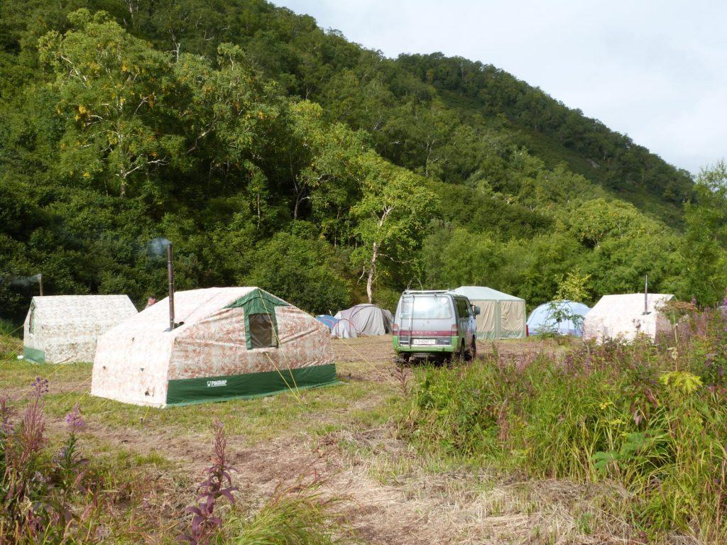 Kamchatka tent camp