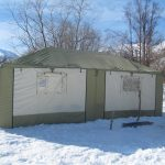 Winter tent camp
